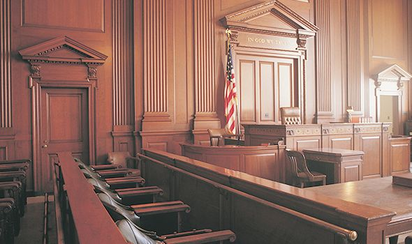generic picture of a jury's bench