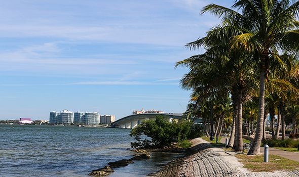 Sarasota coastline picture used for motor vehicle accident page on Heintz & Becker, a Florida injury law firm