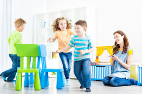 picture of kids playing in a day care for Heintz & Becker's child injury page