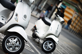 a picture of scooters or mopeds used on an accident service page for heintz & becker