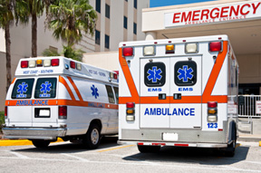 a picture of ambulances for the serious and catastrophic injury page at Heintz & Becker, a personal injury law firm in Sarasota, Bradenton, FL