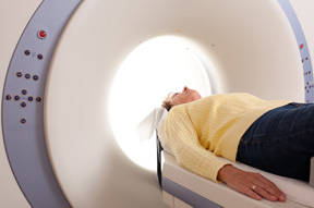 person going into an mri machine for the TBI service page